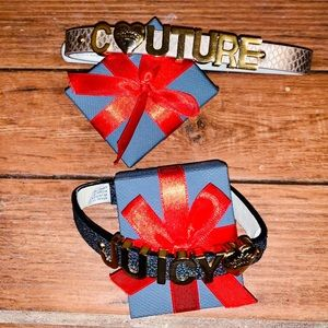 Juicy couture dog collars